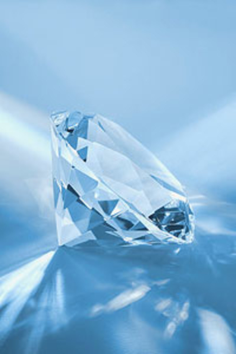 A crystal like this sends light in all diections across the room.