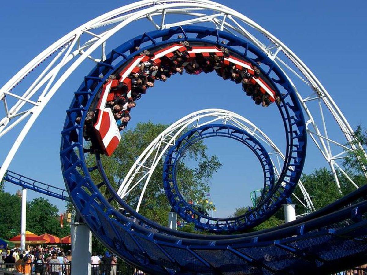Corkscrew Roller Coaster