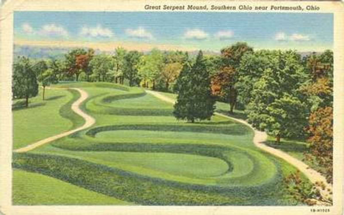 Serpent Mound Postcard