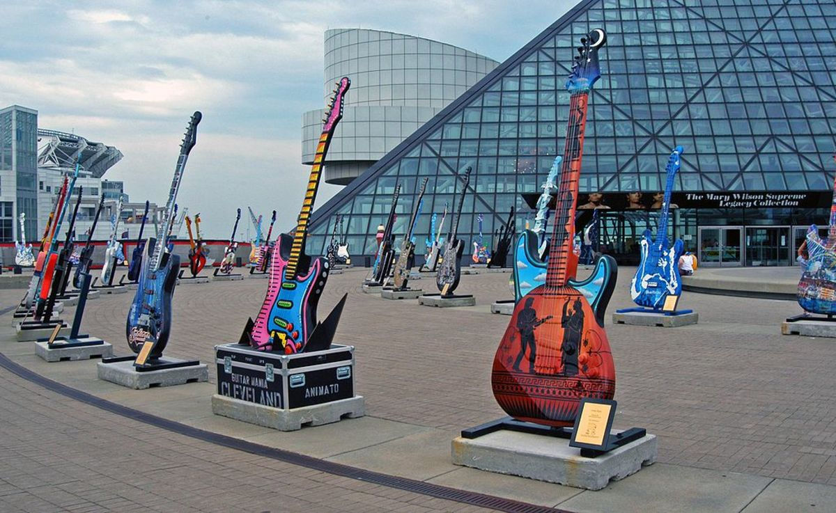 Guitars outside the Rock and Roll Hall of Fame