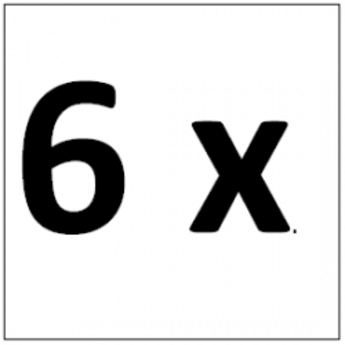 Six Times Table