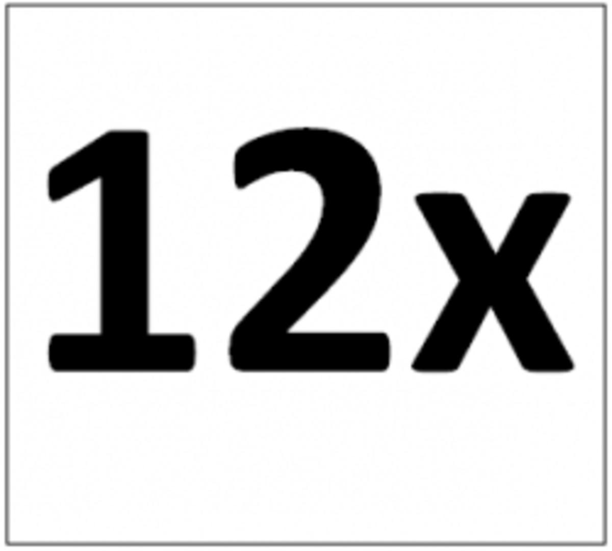 Twelve Times Table