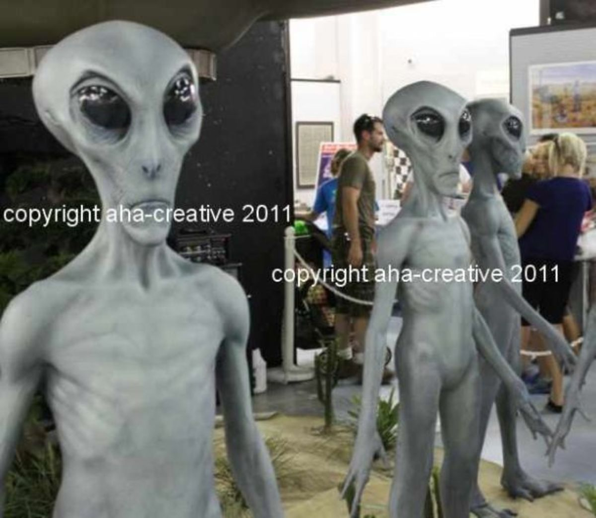 A display inside the UFO Museum.