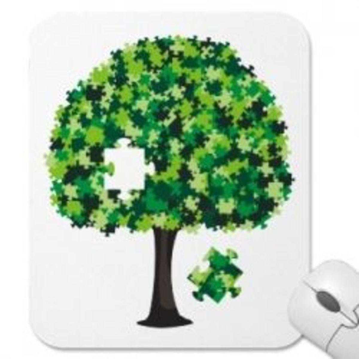 Family tree mousepad.