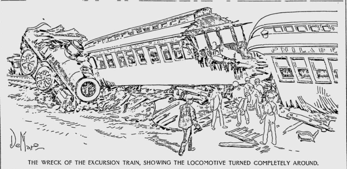 The Aftermath of the Hatfield Train Wreck of 1900
