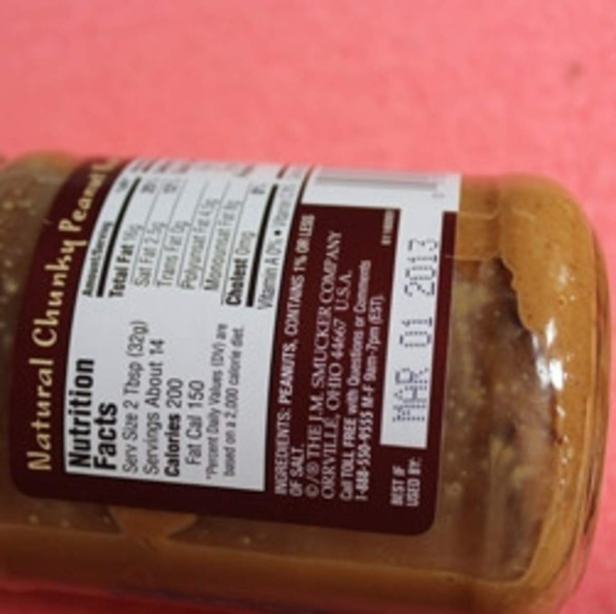 Look at the label and make sure there are only peanuts and a small amount of salt; no other ingredients, especially sugar.