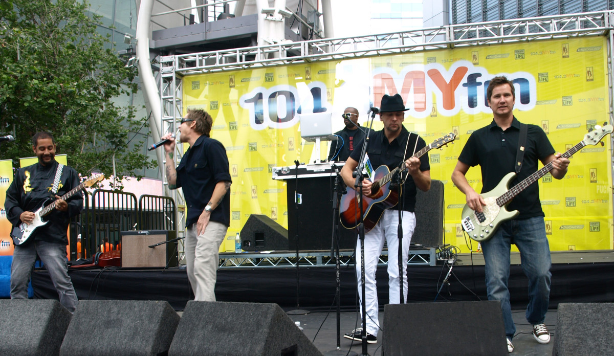 The band Sugar Ray on June 15, 2009 performing in Downtown Los Angeles, CA.