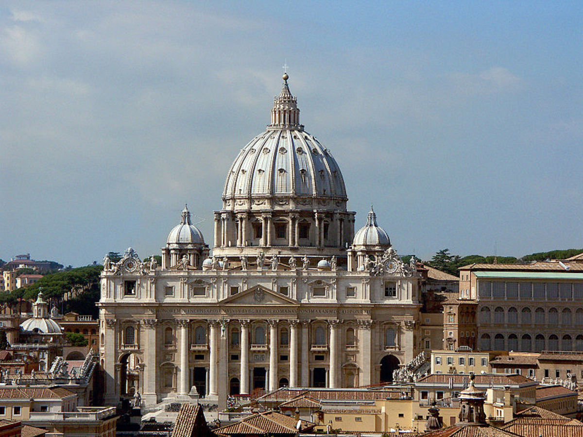 St. Peter's Basilica in Vatican City. (Rome)