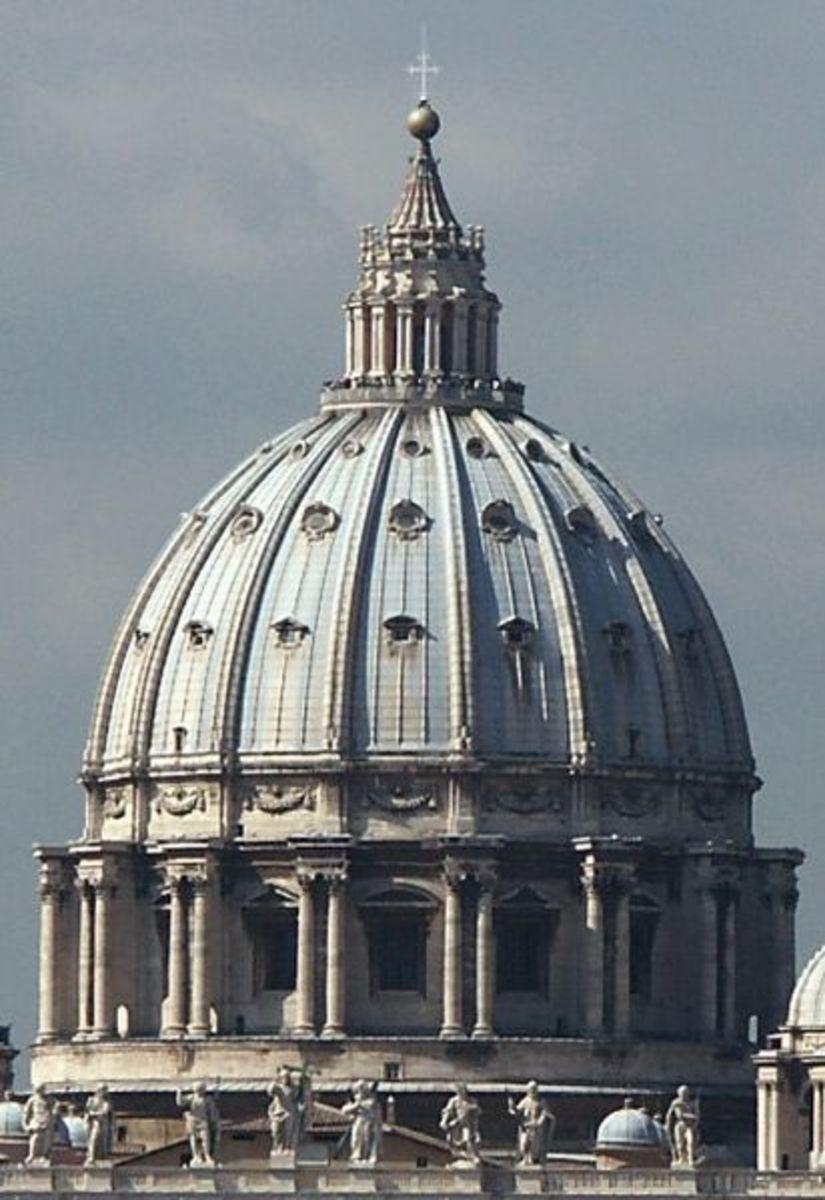 St Peter's Basicilica dome.  Vatican City (Rome)