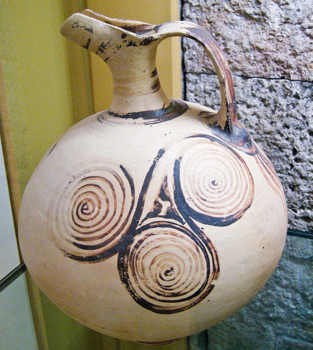 Jug With Triple Spirals