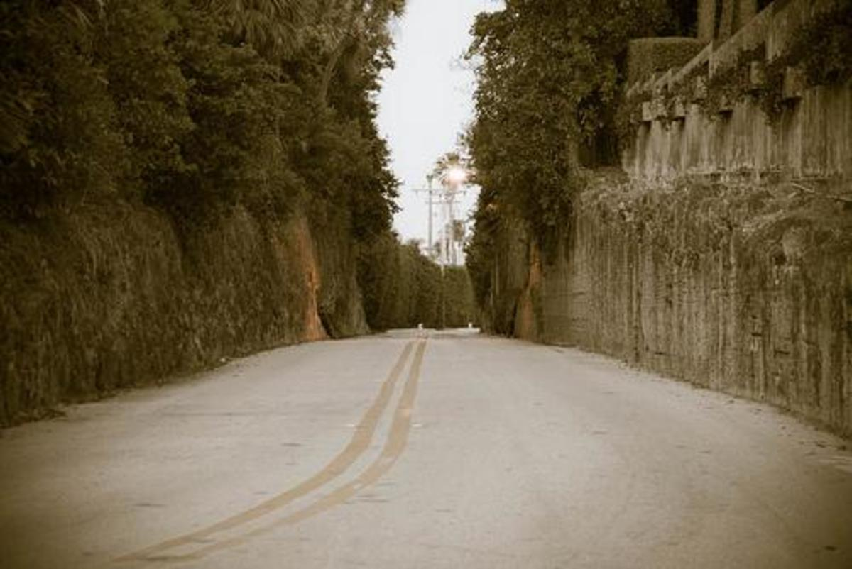 Country Club Rd, the spooky location of Witch's Castle in Palm Beach, Florida