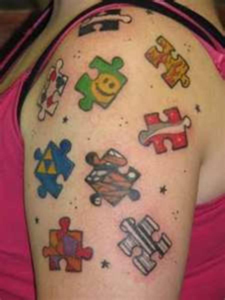 Unique Puzzle Tattoo Designs