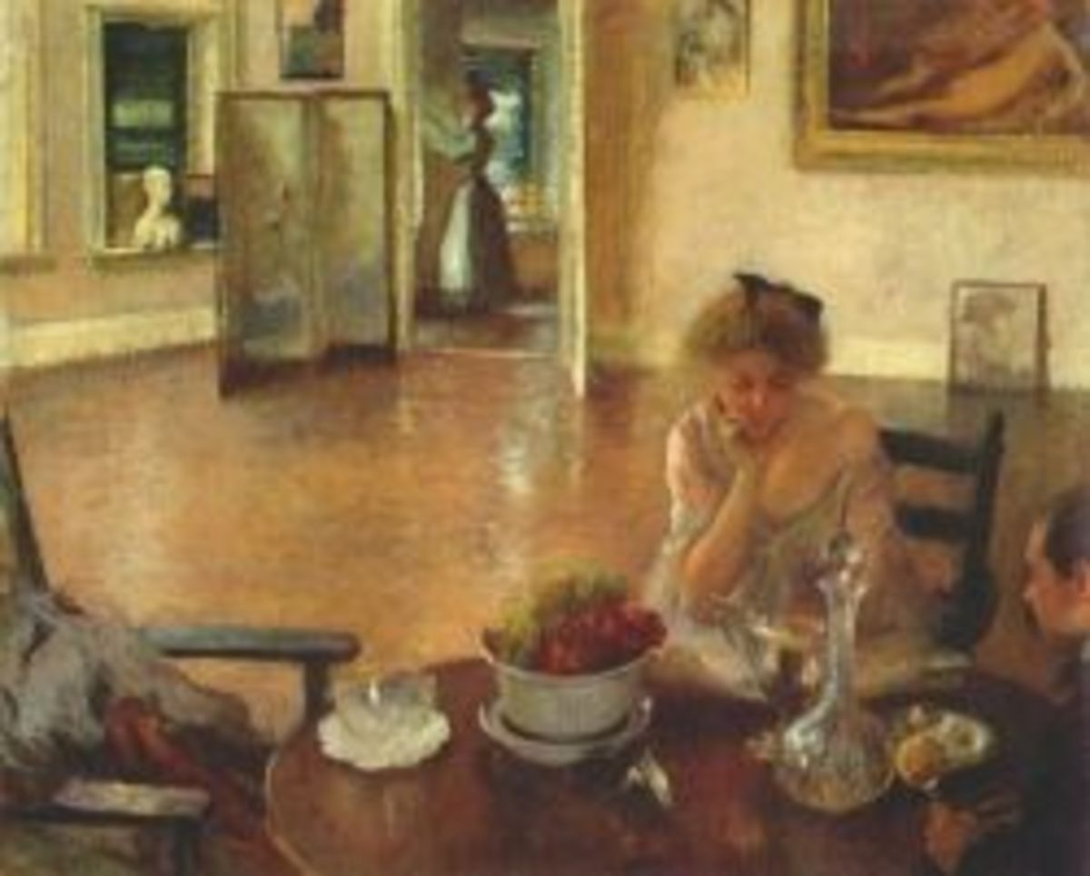 The Breakfast Room,1903 by Edmund Tarbell