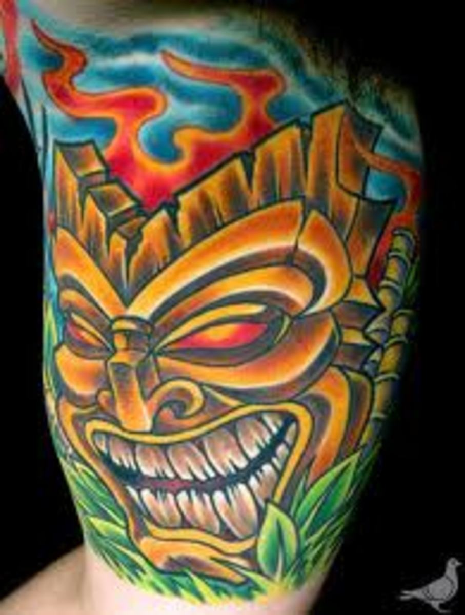 Tiki Tattoos and Designs-Tiki Tattoo Ideas And Inspiration