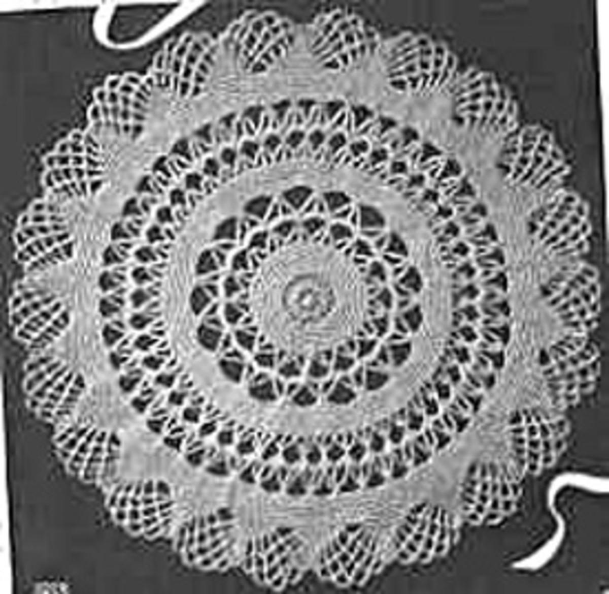 Crocheted 1942 Doily
