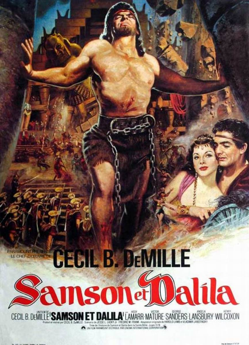 Samson and Delilah (1949) French poster
