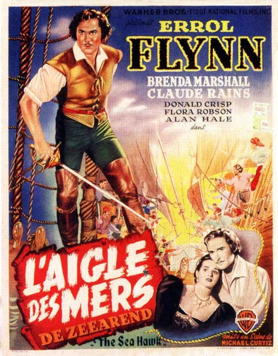 The Sea Hawk (1940) Belgian poster