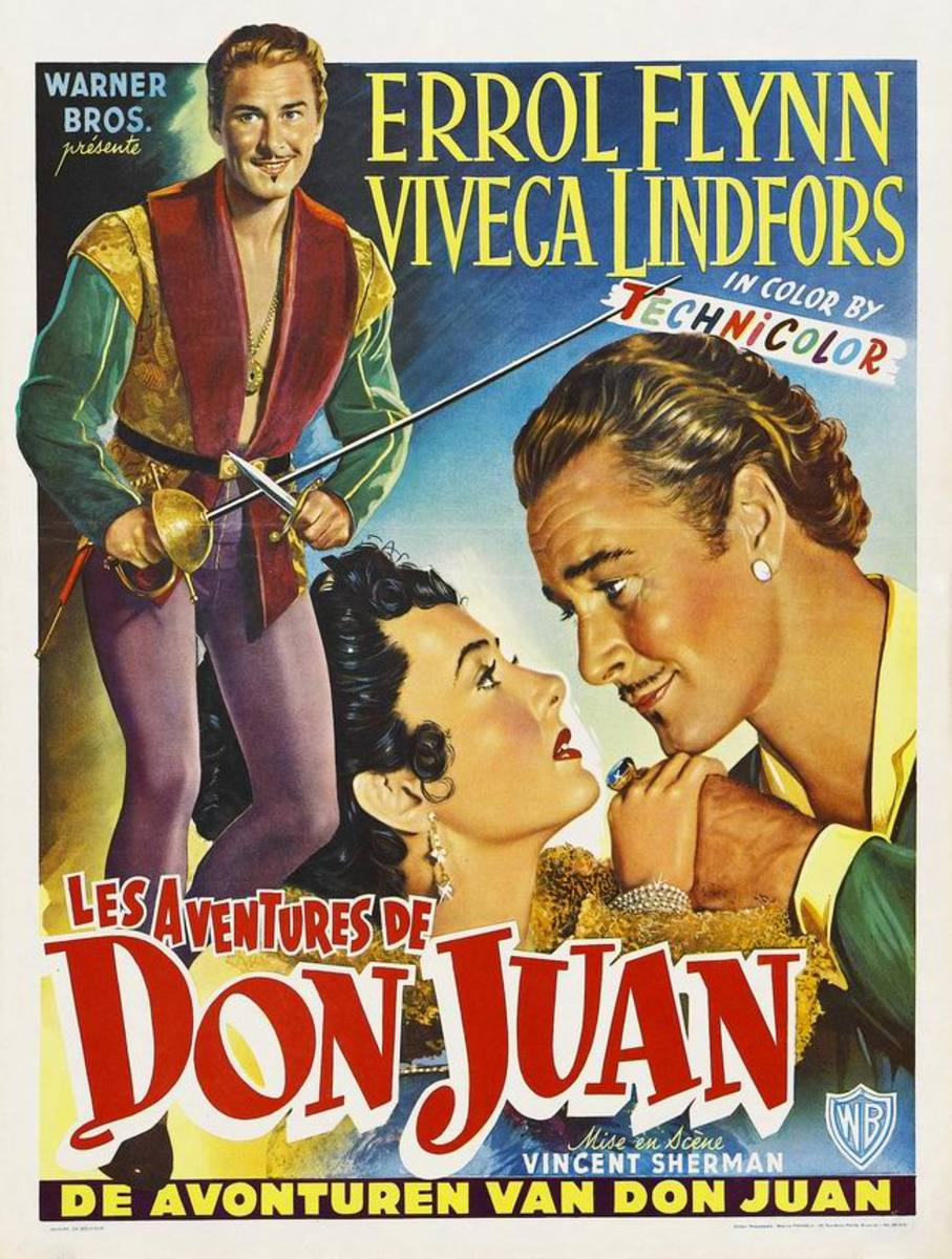 Adventures of Don Juan (1948) Belgian poster