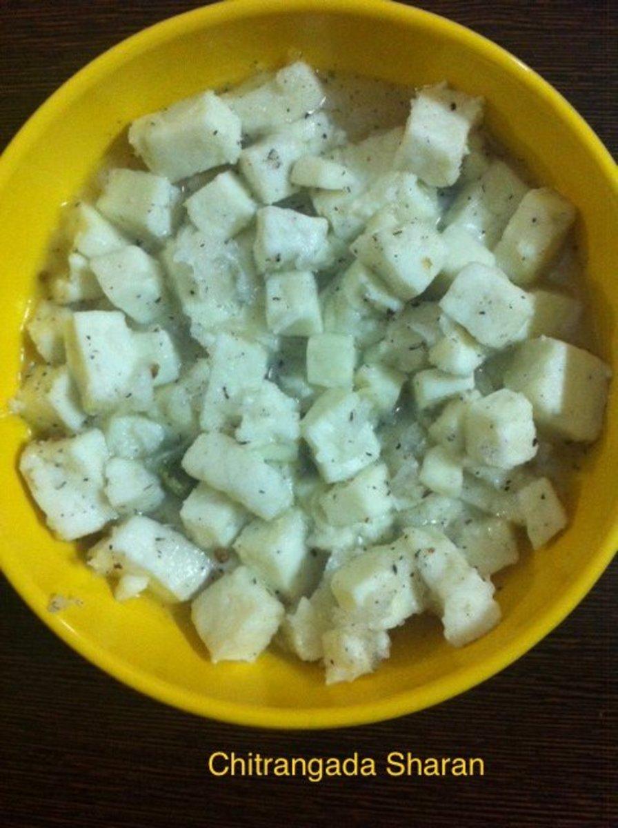 Low Calorie, Quick, Easy Indian Dessert: Cottage Cheese in Sugar Syrup