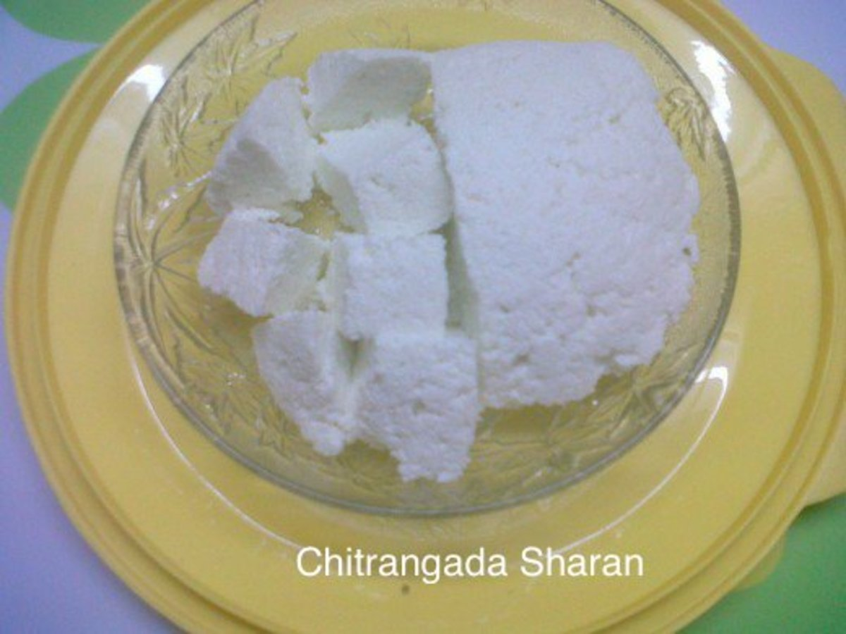 Homemade cottage cheese or Paneer