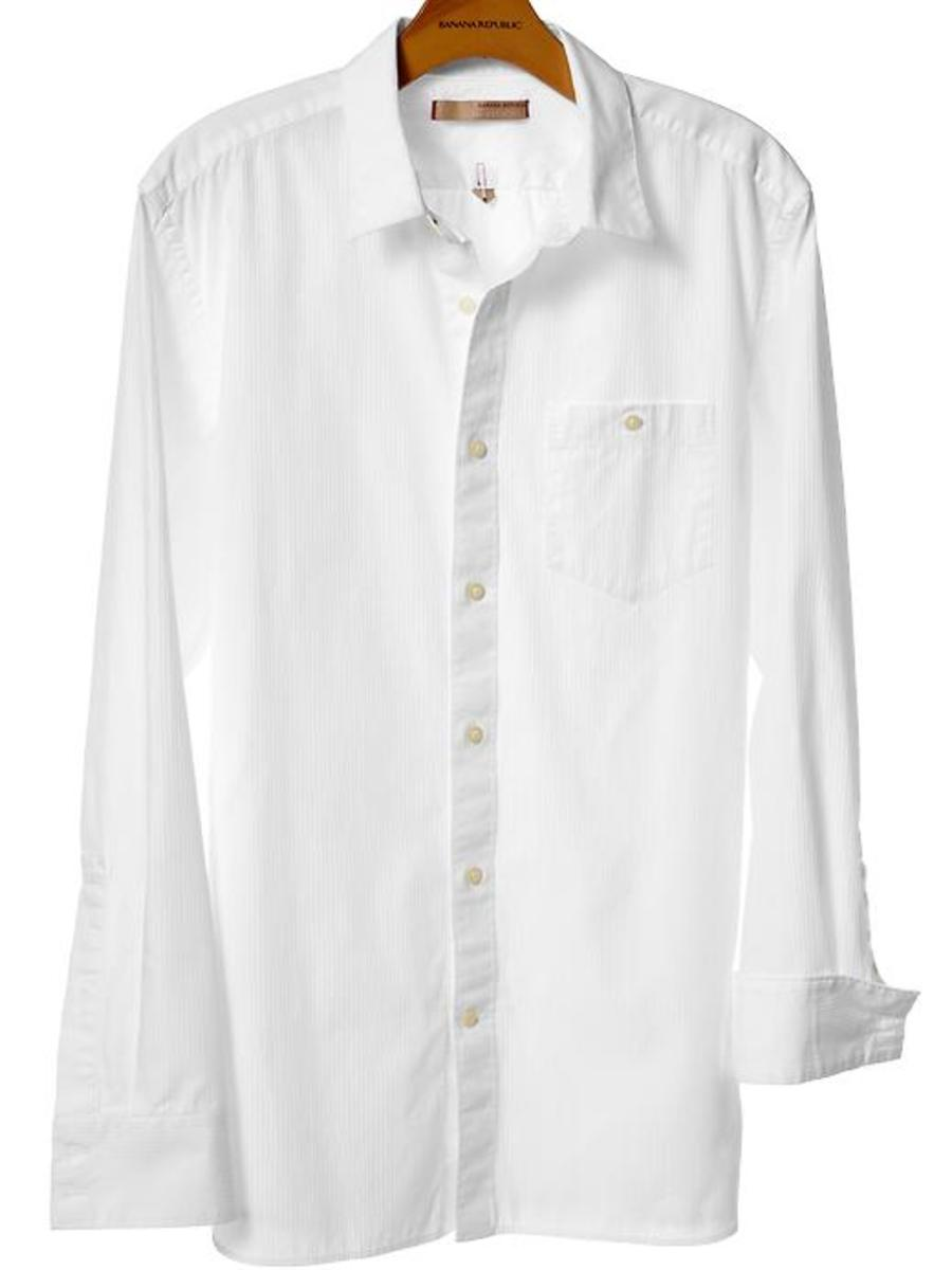 Banana Republic.  Heritage slim fit shirt, $44.99