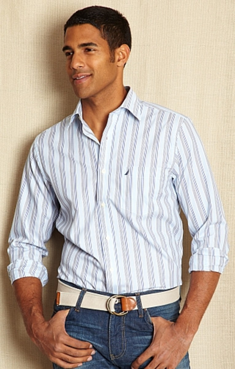 Nautica. Stripe Shirt, $29.99