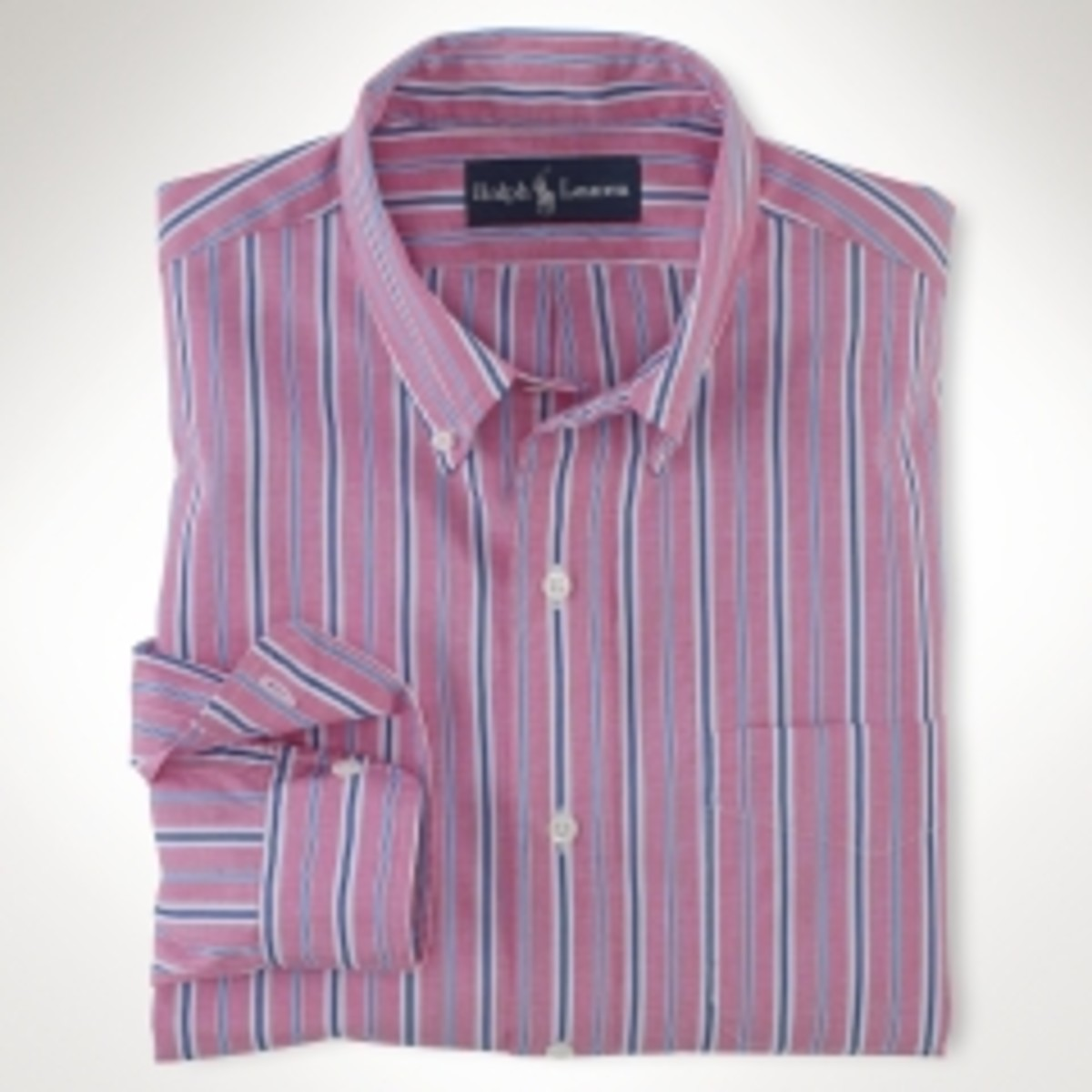 Polo Ralph Lauren. Custom-Fit End-On-End Stripe, $29.99