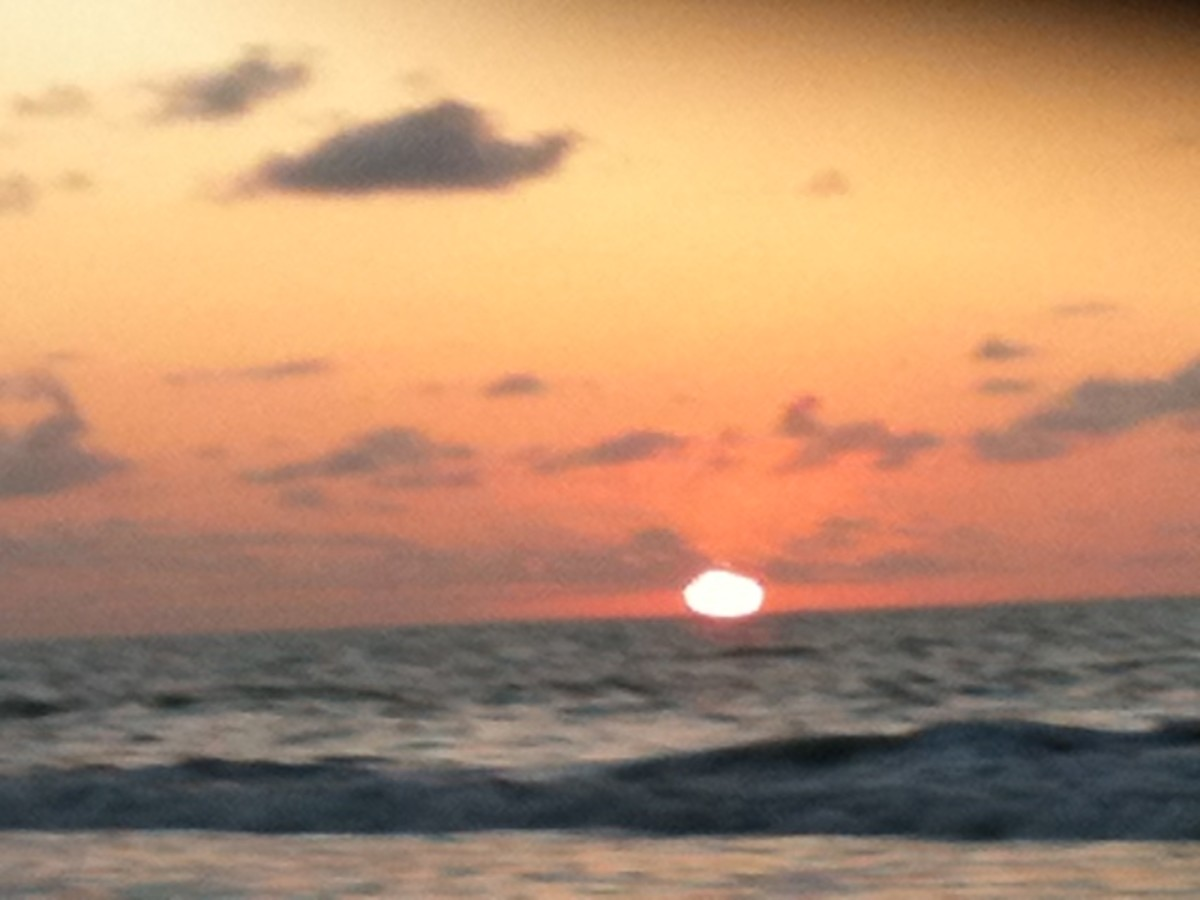 Love is the splendor of a sunset.