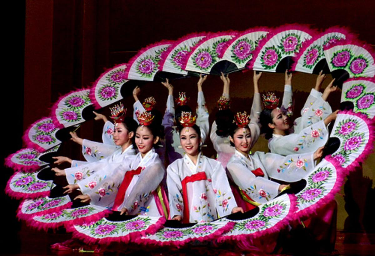 Buchaechum or Fan Dance from Korea
