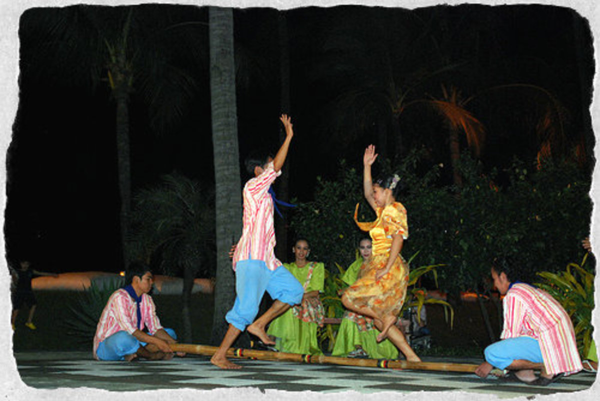 The popular Filipino bamboo dance