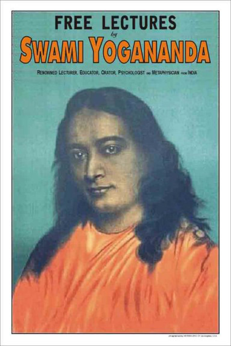 A poster advertising Yogananda's talks during his early days in America.