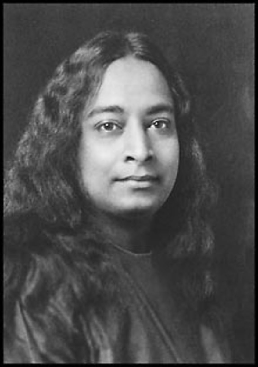 Yogananda was an example of a person whose spiritual stature was readily evident from his eyes and his bearing in his photos.