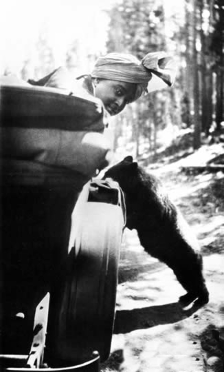 Yogananda visits Yellowstone National Park in 1924.