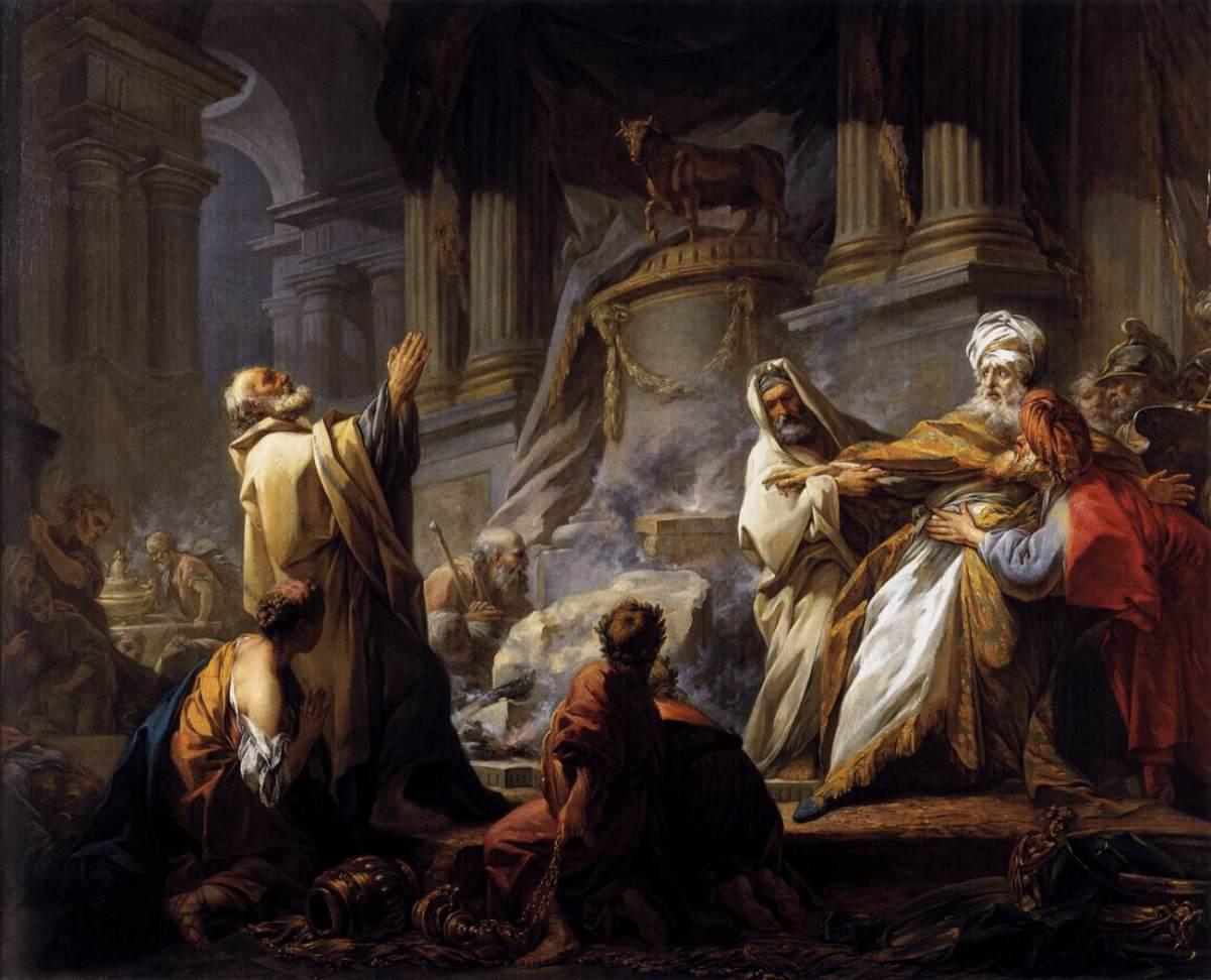 Jeroboam and the Golden Calf : Jean Fragonard