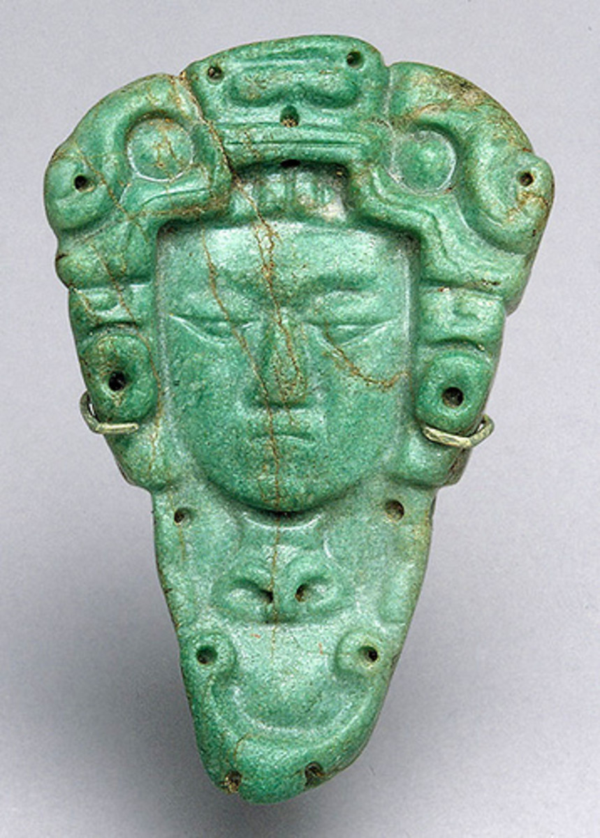 Jade carving from the Mayan Period