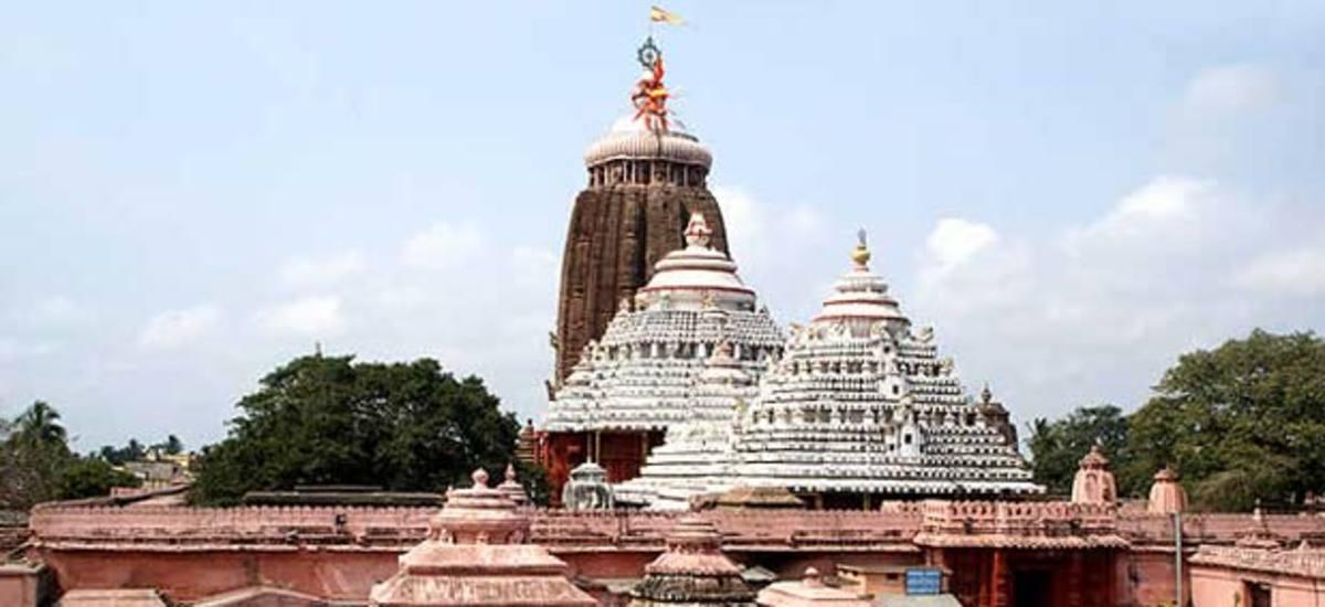 The Jagannath Temple in Puri, Orissa - India