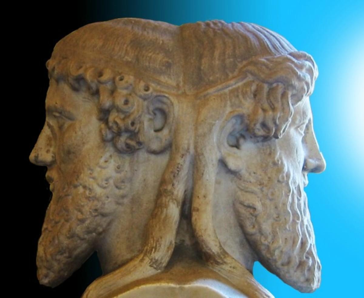 The Roman God Janus : God of beginnings, endings, doors, gateways and thresholds.