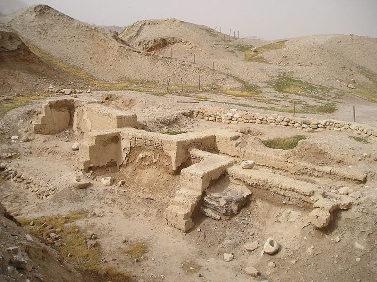 The modern city of Jericho is the oldest continually inhabited city in the world. There has been a city of some kind here for 10,000 years. These are some ruins dating back to the Neolithic Period.