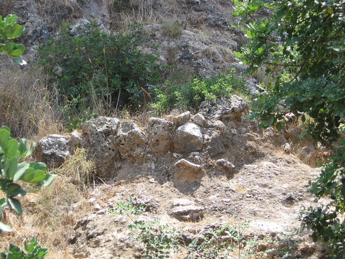 This is all that remains of a Natufian house that was uncovered at the 'El-Wad Terrace' archaeological site in the 'Nahal Me'arot' Nature Reserve, Israel.