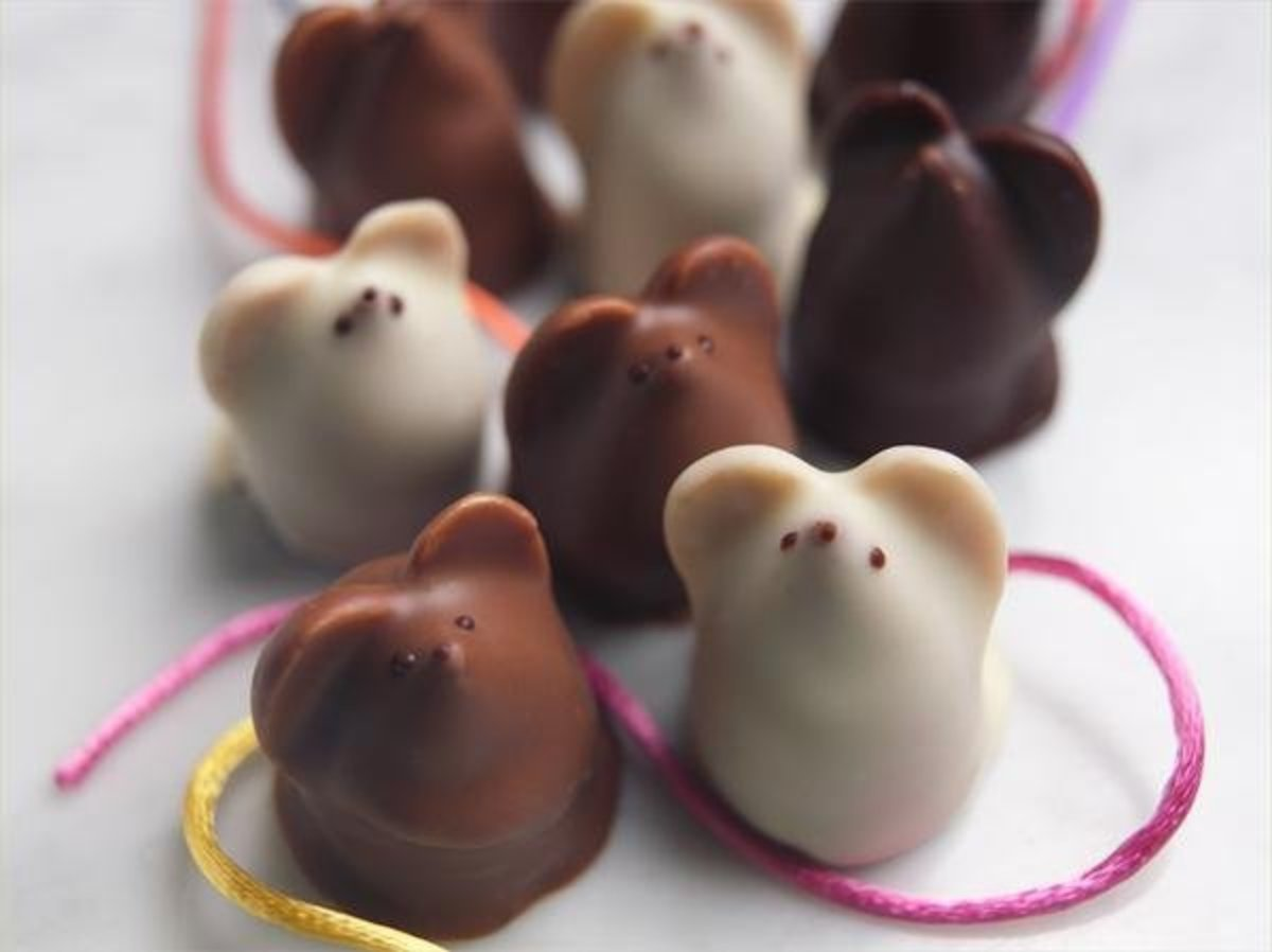 Burdick's signature chocolate mice are available year-round.