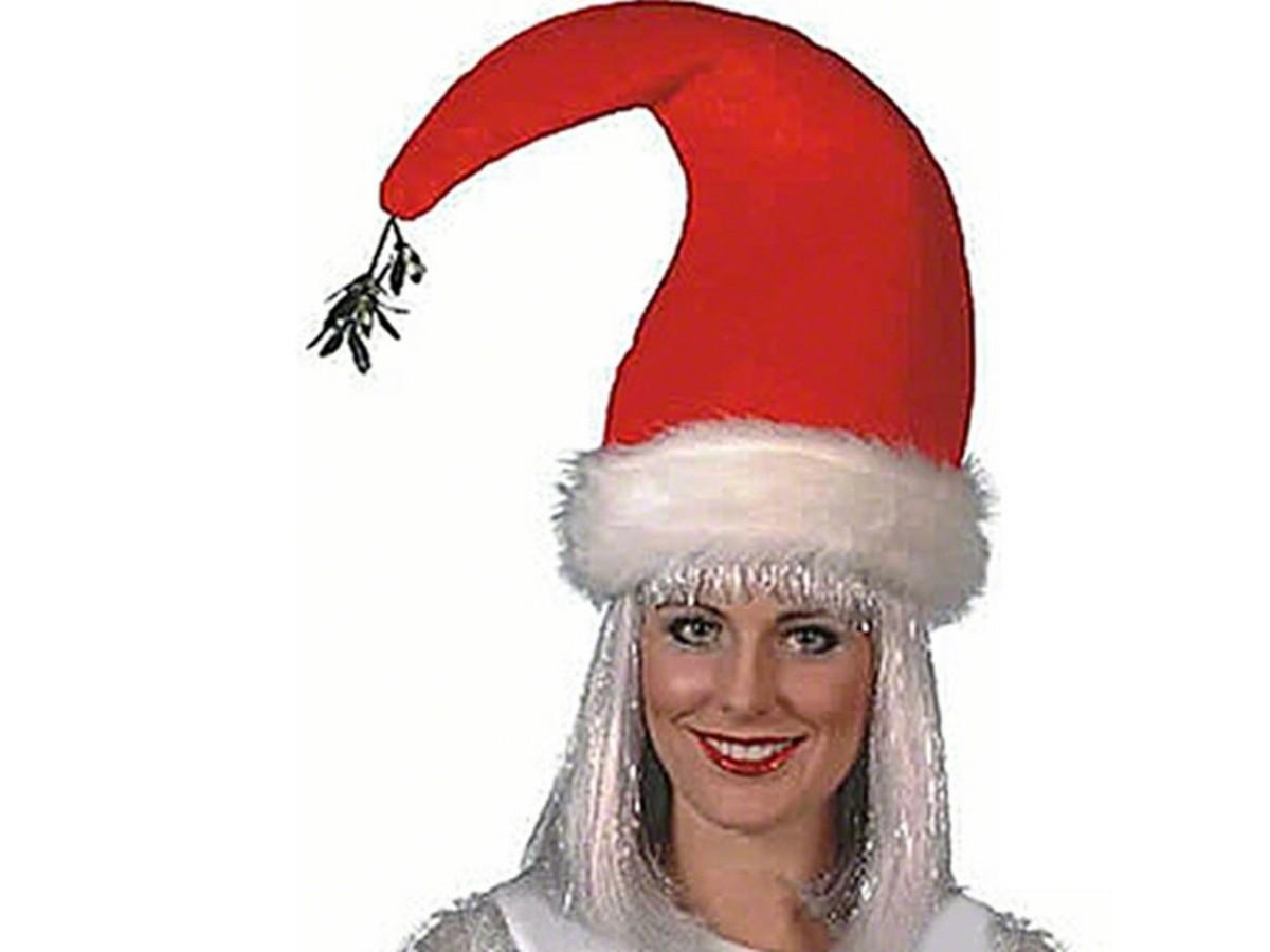 Santa Hat with Mistletoe