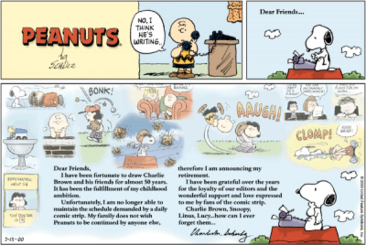 The Last Peanuts Comic Strip. A Bit of a Tearjerker