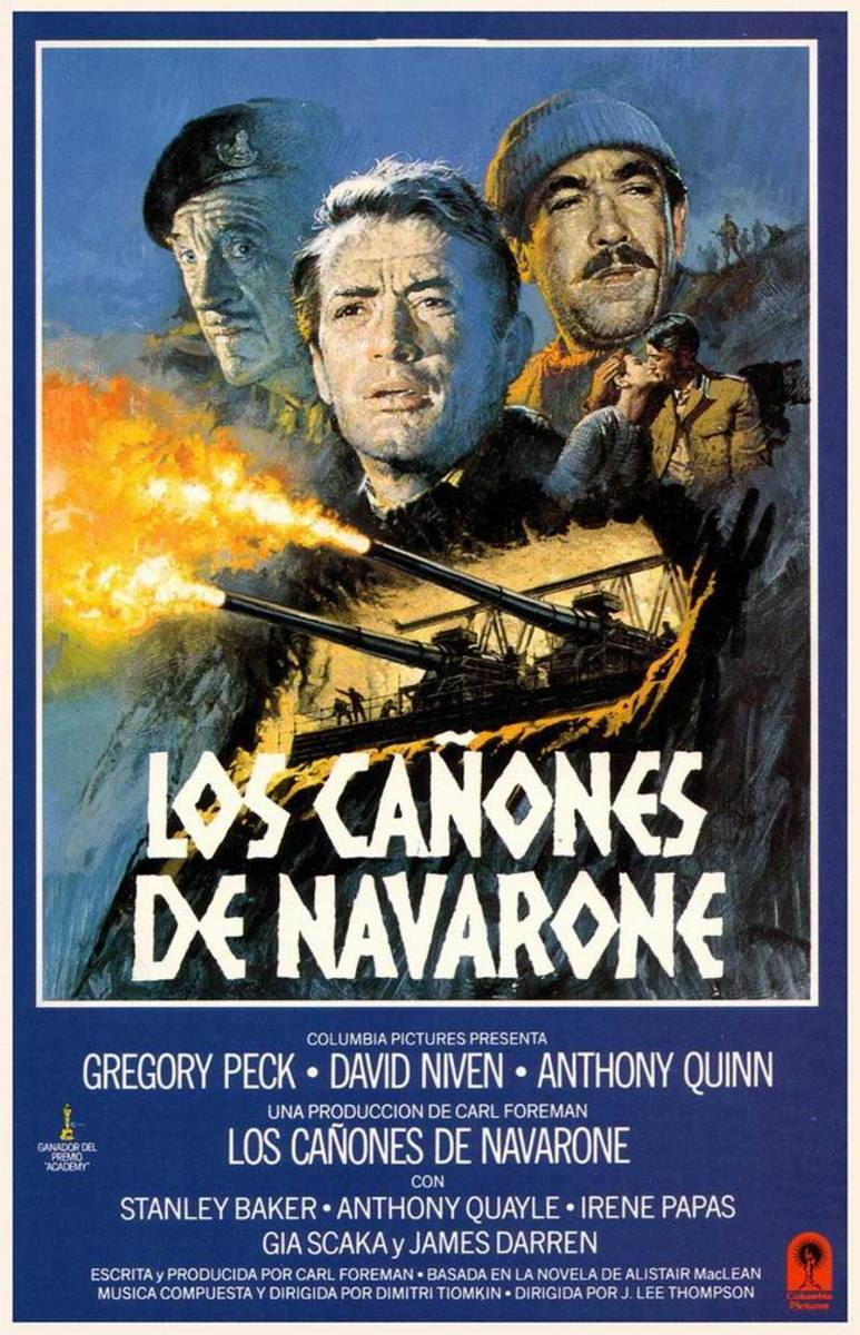 The Guns of Navarone (1961) Spanish poster