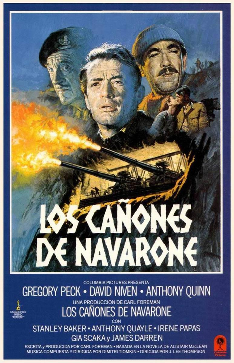 The Guns of Navarone (1961) Spanish poster