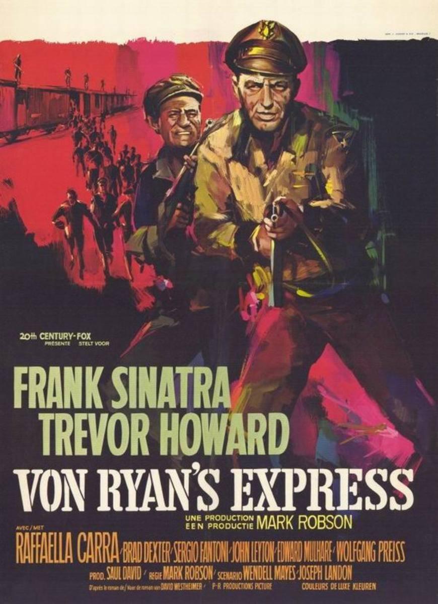 Von Ryan's Express (1965) Belgian poster