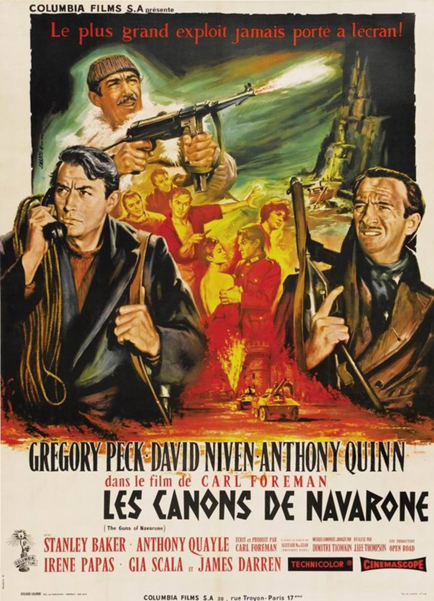 The Guns of Navarone (1961) French poster