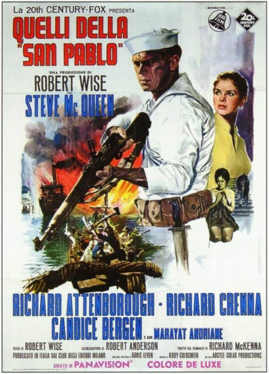 The Sand Pebbles (1966) Italian poster