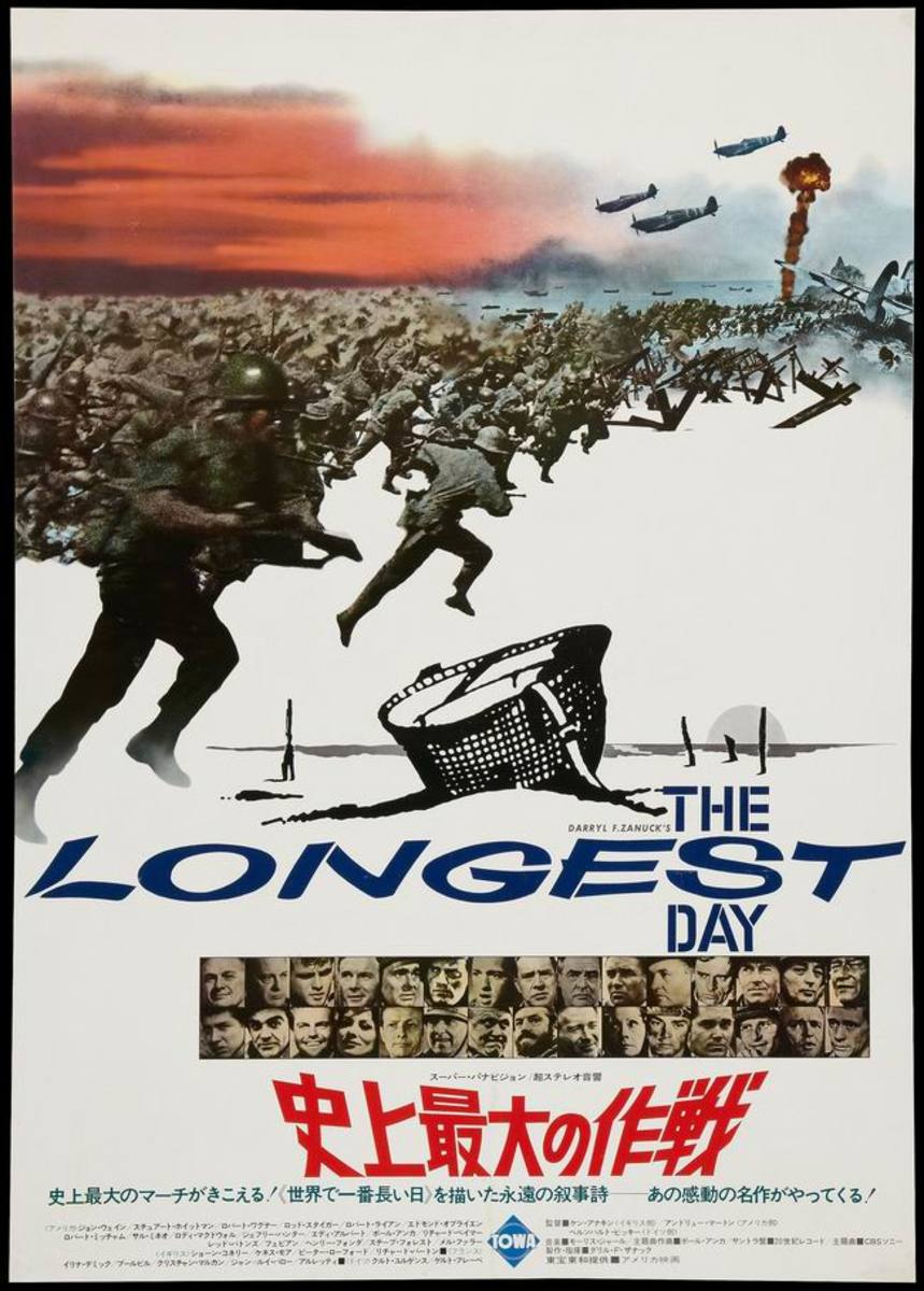 The Longest Day (1962) Japanese poster