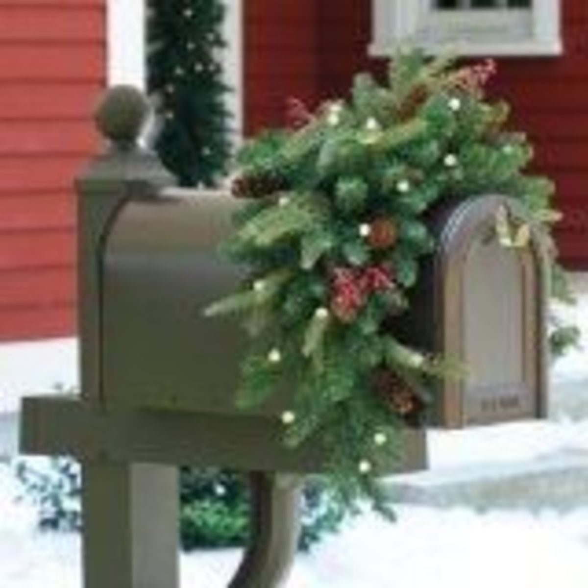 Handsome Christmas Mailbox Swags