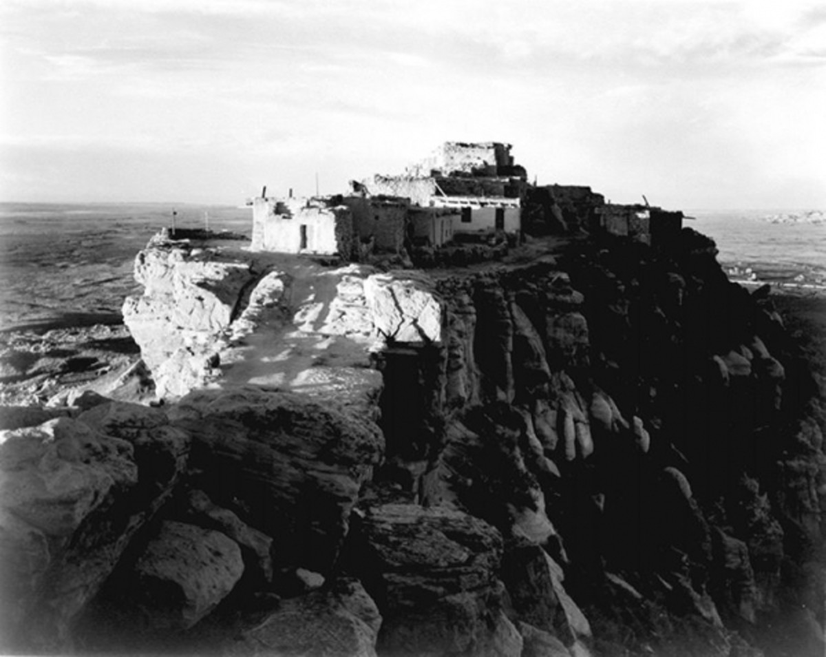 Photography of Walpi Village by Ansel Adams in 1941.